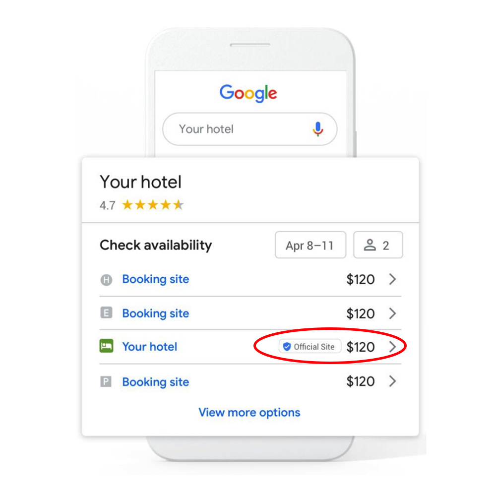 Google Free Booking Links Red Line